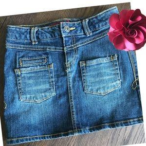 3/$25 Arizona Jeans Lightly Distressed Denim Skirt